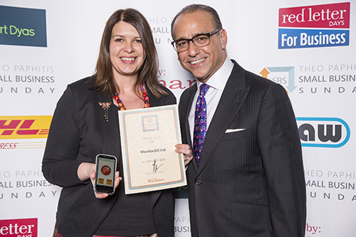 Sarah Ainslie and Theo Paphitis