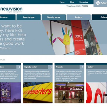 Client Project: New Vision Website