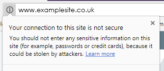 Site with no SSL certificate
